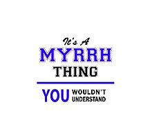 It's a MYRRH thing, you wouldn't understand !! by thestarmaker