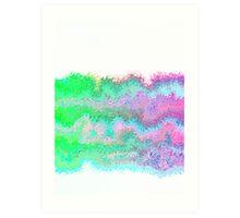 pinktagreen on fire Art Print