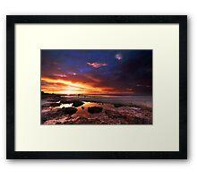 Sunset at Moonta Bay Framed Print