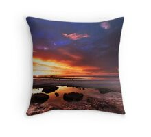 Sunset at Moonta Bay Throw Pillow