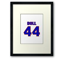 National football player Don Doll jersey 44 Framed Print