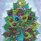 Magical Christmas Peacock! by Studio Burke