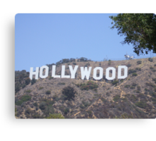 The World Famous Hollywood Sign Canvas Print