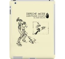 "Depeche Mode : Everything Counts 12"" -2- Black iPad Case/Skin"