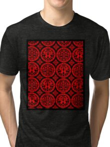 BROCADE-RED 2 Tri-blend T-Shirt