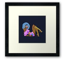 FUNKY RETRO GIRL Framed Print
