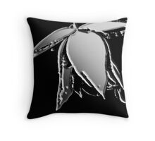 Liquid Bloom Throw Pillow