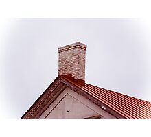Red Roof Line Photographic Print