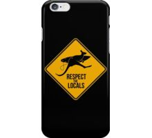 Respect the real locals. Kangaroo version. Australia surf. iPhone Case/Skin