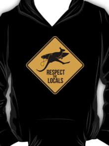 Respect the real locals. Kangaroo version. Australia surf. T-Shirt