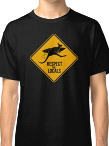 Respect the real locals. Kangaroo version. Australia surf. Classic T-Shirt