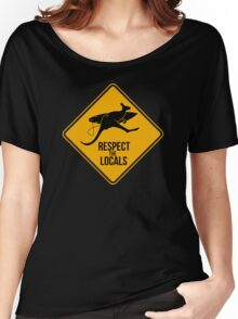 Respect the real locals. Kangaroo version. Australia surf. Women's Relaxed Fit T-Shirt
