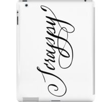 Scrappy hand lettering calligraphy iPad Case/Skin
