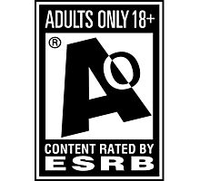Adults Only! Photographic Print