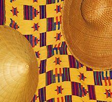 Asian Hats and African Textile by RLHall