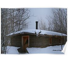Old Sod House Poster