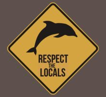 Respect the dolphins - Caution sign Baby Tee