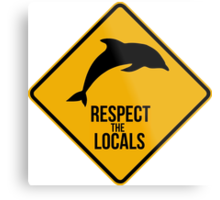 Respect the dolphins Metal Print