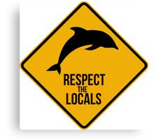 Respect the dolphins Canvas Print