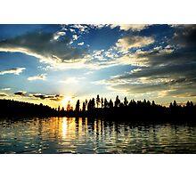 Sunset on White Mud Lake Photographic Print