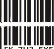 Barcode bullet Sticker