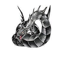 Dark Cyber Dragon Photographic Print