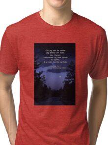 Jeremiah 29:11 in Norwegian --  Jeremias 29:11 Det Norsk Bibelselskap 1930 Tri-blend T-Shirt