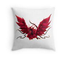 Black Rose Dragon Shirt Throw Pillow
