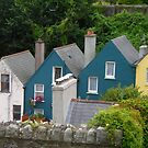 Row Houses, Cobh, Ireland by Cathy Klima