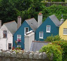 Row Houses, Cobh, Ireland by Cathy Klima