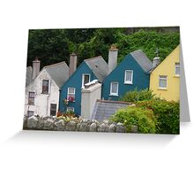 Row Houses, Cobh, Ireland Greeting Card