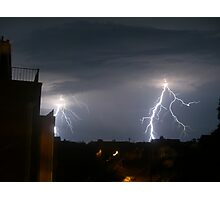 lightening strikes twice Photographic Print