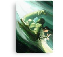 The Impressionable Hulk Canvas Print