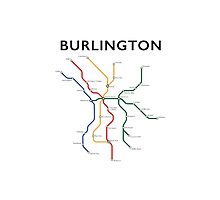 Burlington Vermont - Metro Map by GreenMountainT