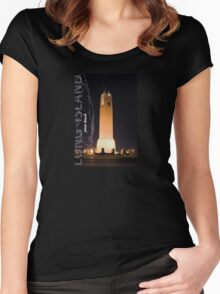 Jones Beach. Women's Fitted Scoop T-Shirt
