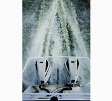 Twin Honda outboard motors with wake in the Coorong Unisex T-Shirt