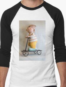 Gnome riding a scooter Men's Baseball ¾ T-Shirt