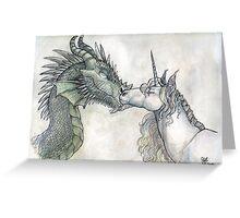 Dragon and Unicorn Greeting Card