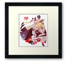 Sailor moon and tuxedo mask Framed Print