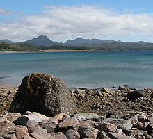 Gairloch beach and the Torridon mountains from Strath by orchidcat