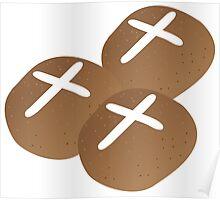 Hot cross buns for Easter Poster
