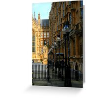 bulbs light and shadow (house of parliament) Greeting Card
