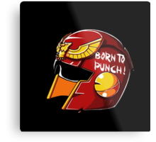 Born to Punch Metal Print