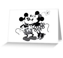 Vintage Mickey And Minnie Mouse  Greeting Card