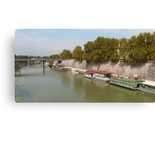 Houseboats on the Tiber Canvas Print