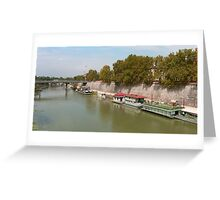 Houseboats on the Tiber Greeting Card