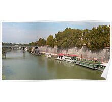 Houseboats on the Tiber Poster