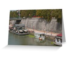 Houseboats on the Tiber II Greeting Card