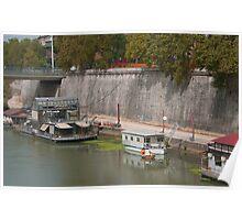 Houseboats on the Tiber II Poster