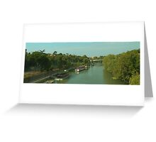 Houseboats on the Tiber III Greeting Card